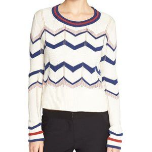 Veronica Beard XS Sweater Chevron Striped Kindling